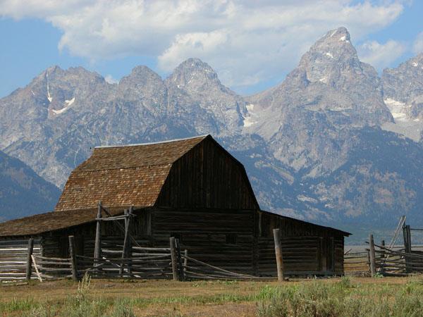 Teton Mountains in Wyoming, USA