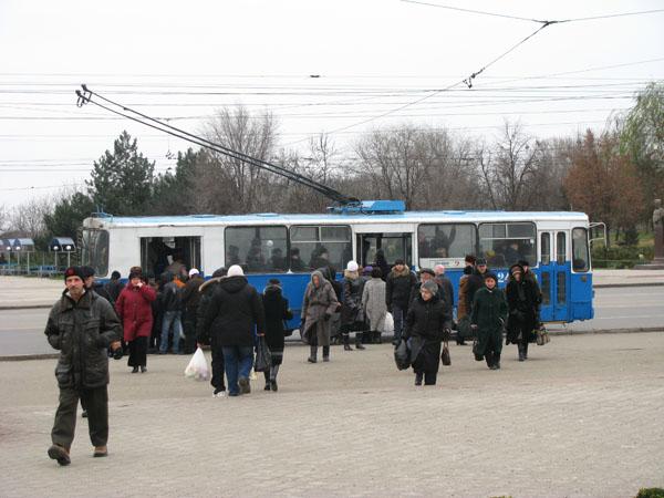 Tram in Tiraspol, Transdniestr