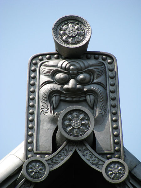 Temple Rooftop Detail in Japan