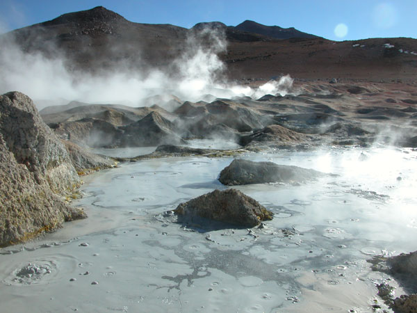 Mud Pots at 5000 Meters in Bolivia