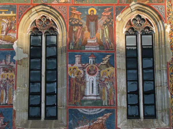 Vatra Moldovitei, Romania - Moldovita Monastery Detail