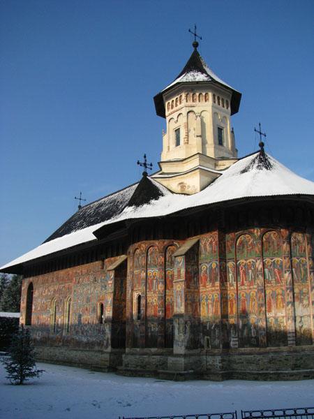 Moldovita Monastery in Vatra Moldovitei, Romania