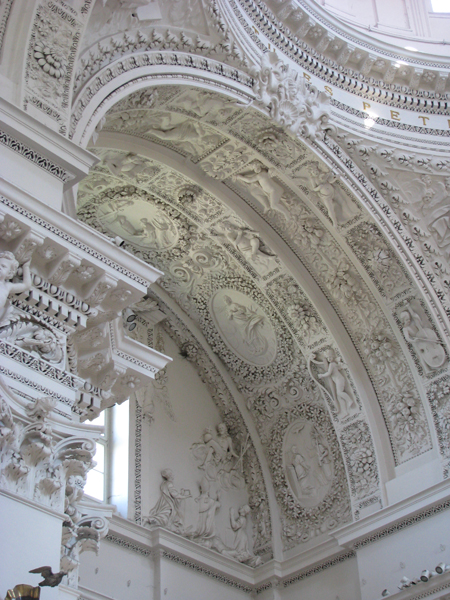 Vilnius, Lithuania - Church of Sts Peter and Paul Interior Detail
