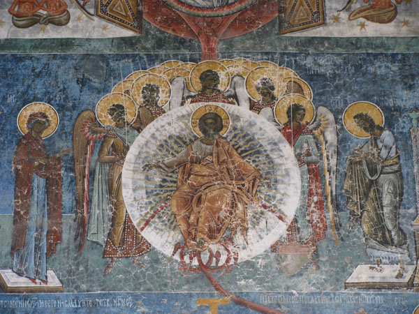 Detail of Painted Monastery in Voronet, Romania