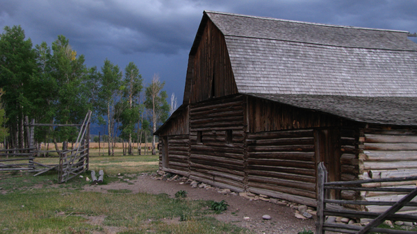 Wyoming - Mormon Row Barn before a Storm
