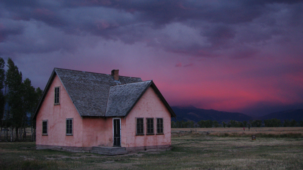 Wyoming - Mormon Row House before a Storm