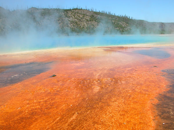 Grand Prismatic Spring in Yellowstone National Park - Wyoming, USA