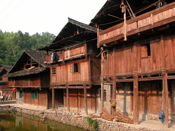 Homes of Zhaoxing, China